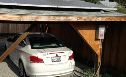 SolarWatt carport systeem voor BMW i3 en i8